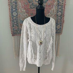A&F Fringe Sweater